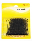 HAIR PINS BLACK 72PK