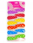 SNAP CLIPS WITH POLKA DOT PRINT 12PK