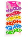 SNAP CLIPS WITH HEART PRINT 12PK