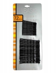 BOBBY PINS BLACK (2 SIZES) 72PK