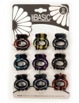 MINI CLIPS 9PK (TWO/TONE MARBLEIZED)