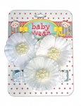 BABY HAIR ACCESSORIES (1 H/WRAP & 2 VELCRO BARET.)