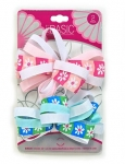 BOW BARRETTES LARGE 2PK