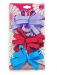 BOW BARRETTES LARGE 3PK