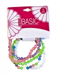 CRYSTAL FACETATED BEADED BRACELETS AB FINISH 5PK