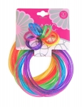 JELLY BRACELETS & RINGS SET ((18 BRC. + 12 RINGS)