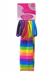 HEADWRAP & 12PK ELASTICS SET RAINBOW PRINT