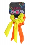 SCRUNCHIES WITH WIRE TAIL SOLID COLORS 2PK
