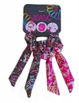 SCRUNCHIES WITH WIRE TAIL PAISLEY PRINT 2PK