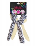 SCRUNCHIES WITH WIRE TAIL ANIMAL PRINT 2PK
