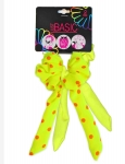SCRUNCHIES WITH WIRE TAIL NEON 2PK
