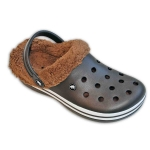 CLOGS W/STRIP & REMOVABLE FUR & HOLES- MENS