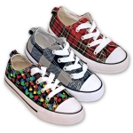 CANVAS SNEAKERS KIDS (PRINTED)- LOW TOP STYLE